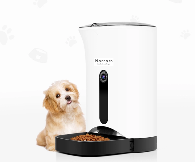 Smart WiFi Automatic Pet Feeder with Camera, 2-Way Audio and Mobile APP