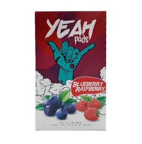 YEAH PODS BLUEBERRY RASPBERRY 5.0% - (COMPÁTIVEL JUUL)