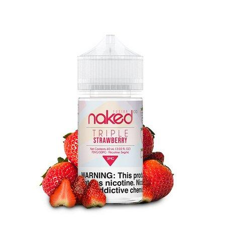 JUICE NAKED 100 TRIPLE STRAWBERRY - 60ML