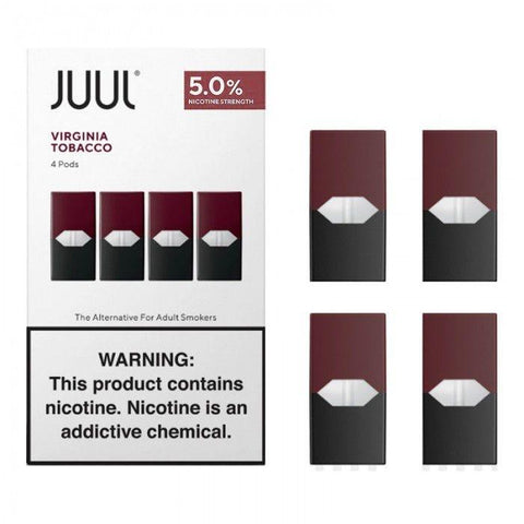 CARTUCHO/REFIL P/ JUUL POD - VIRGINIA TOBACCO (4 UND)