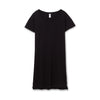 T shirt Dress / Floral Print / Silver on Black