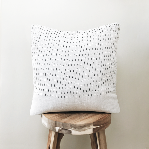Throw Pillow Cover / Abstract Rain