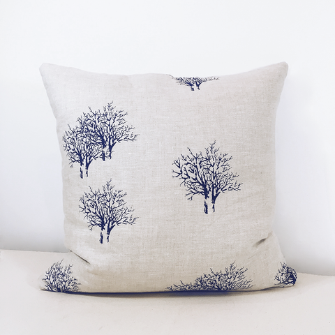 Throw Pillow Case / Abstract Woodland in Blue