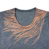 Slouchy T Shirt / Copper Peacock Feather