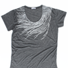 Slouchy T Shirt / Silver Peacock Feather