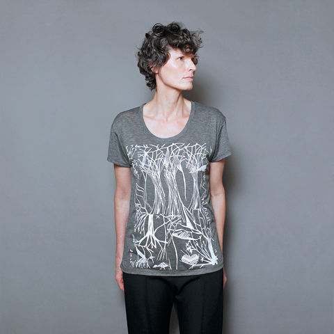 Slouchy T Shirt / Nesting Trees