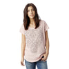 Rose T shirt for Women / Orchid Lace / Hand Screen Printed Graphic Tee with Lace Detail