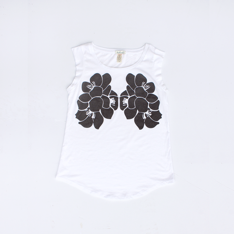Cap Sleeve T shirt / Perfect Bloom