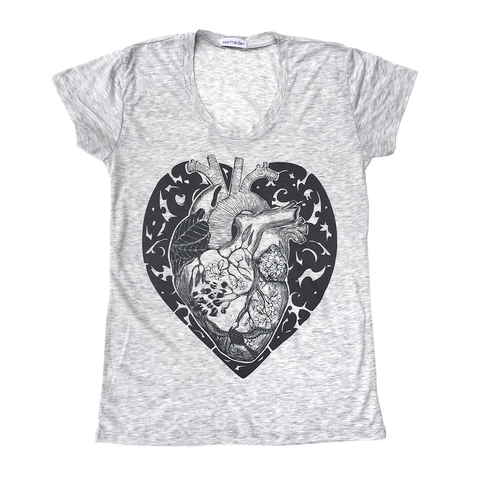 Slouchy T Shirt / Anatomy of a Heart