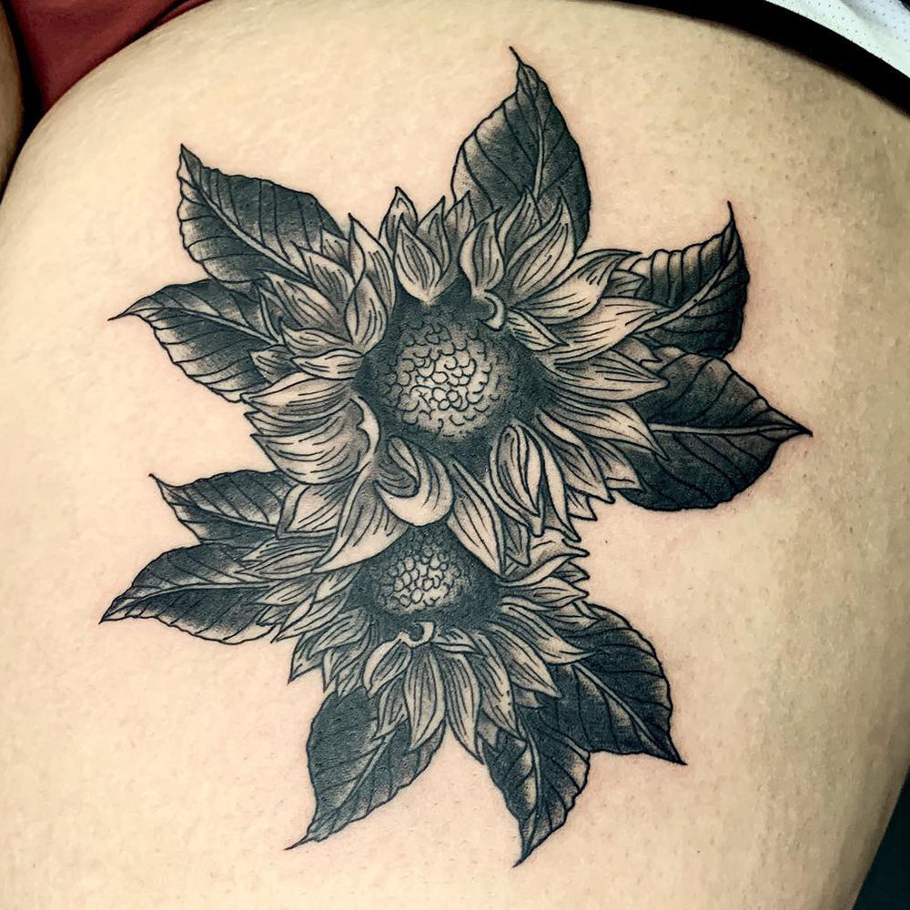 Two Sunflowers Tattoo
