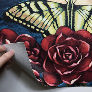 """Swallowtail Butterfly"" Embellished Fine Art Print on Canvas, 11x14"