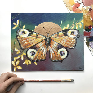 Embellished Fine Art Print Butterfly by Aimee Schreiber