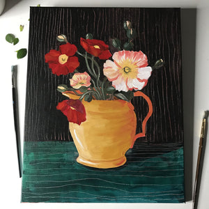 Flower Vase Painting Class March 14th