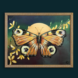 """Peacock Butterfly"" Canvas Fine Art Print"