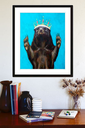 Queen Honey Badger Art Print by Aimee Schreiber