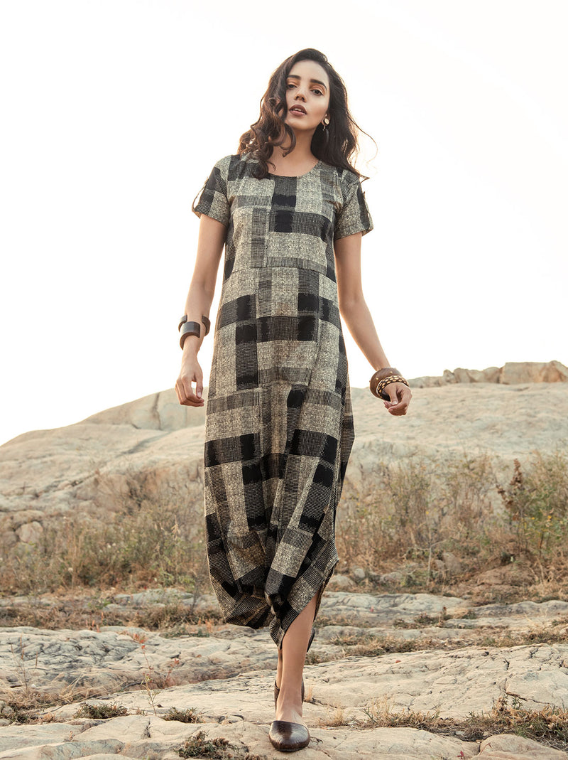 Black Checkered Jumpsuit