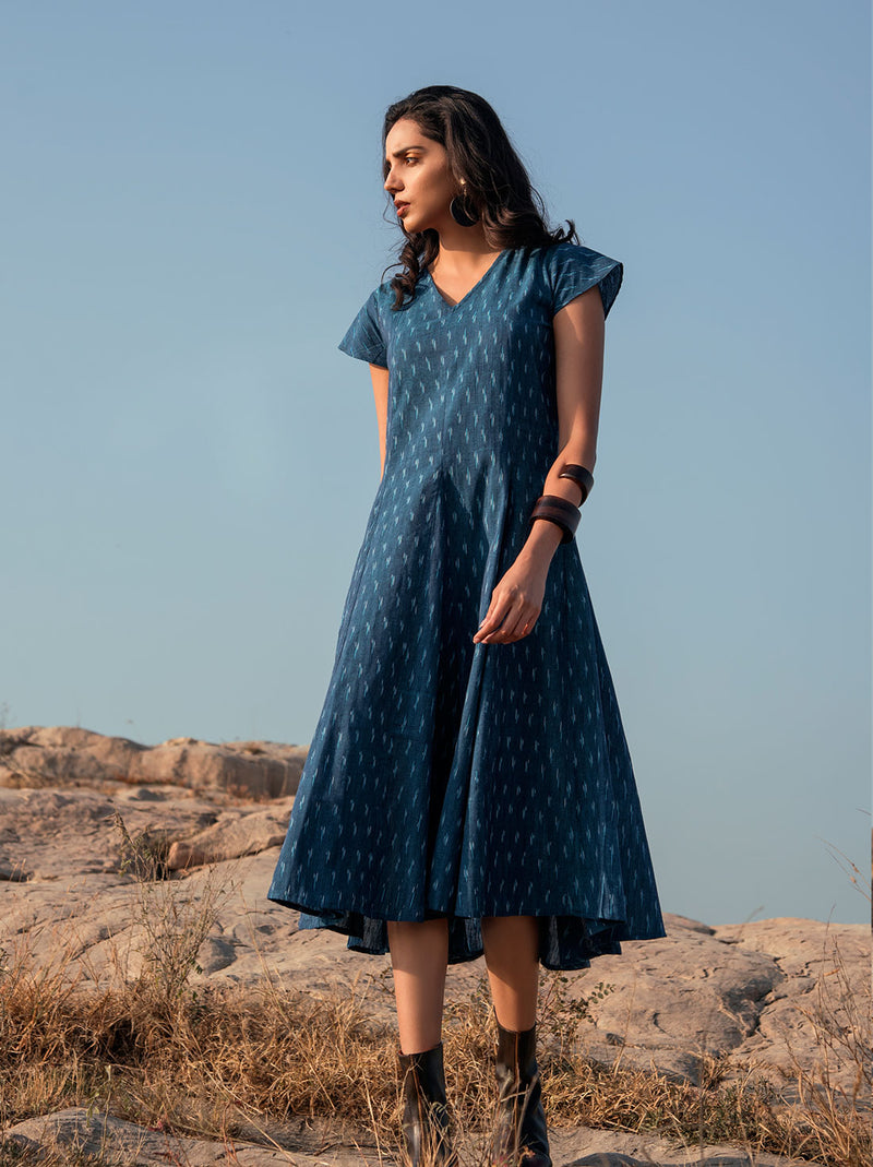Azure blue cotton tunic