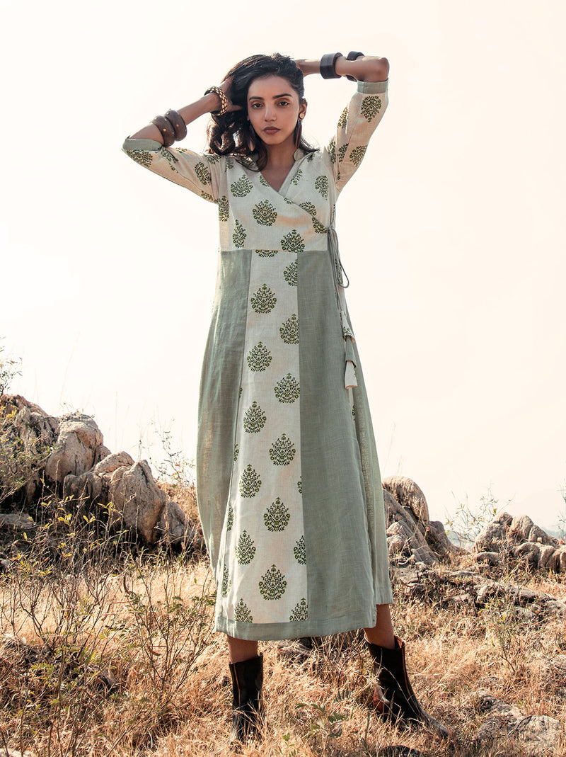 Lime Shrub Angrakha Tunic