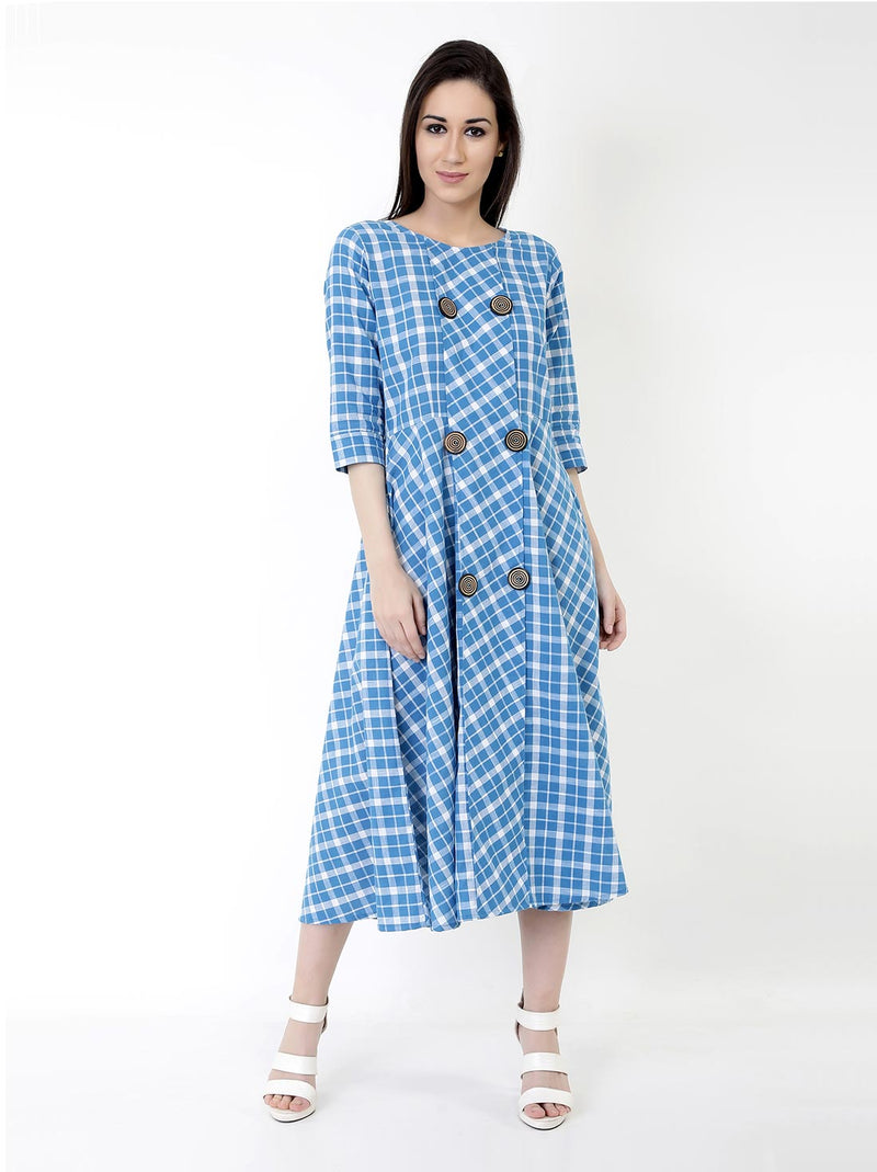 Buttoned Up Midi Dress