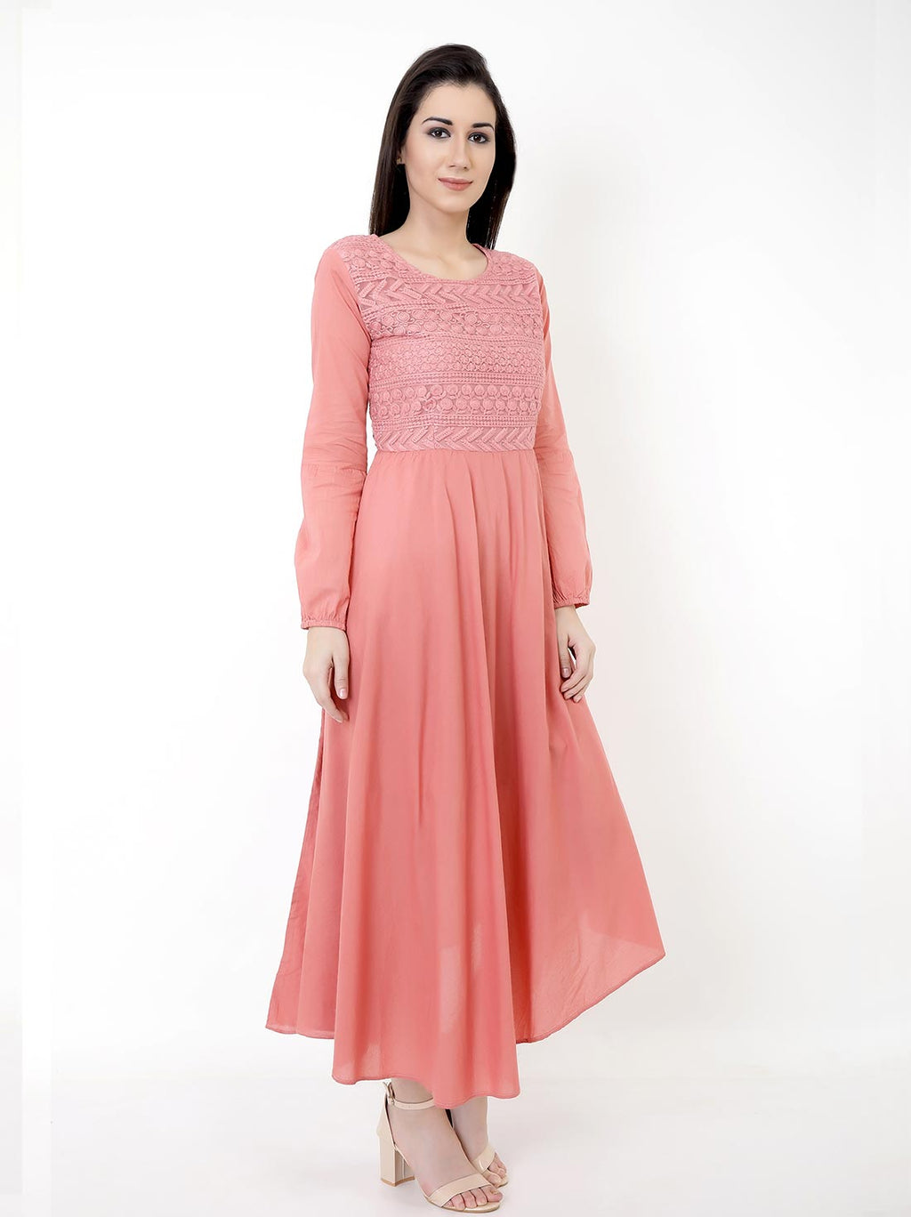 Peach Perfect Midi Dress