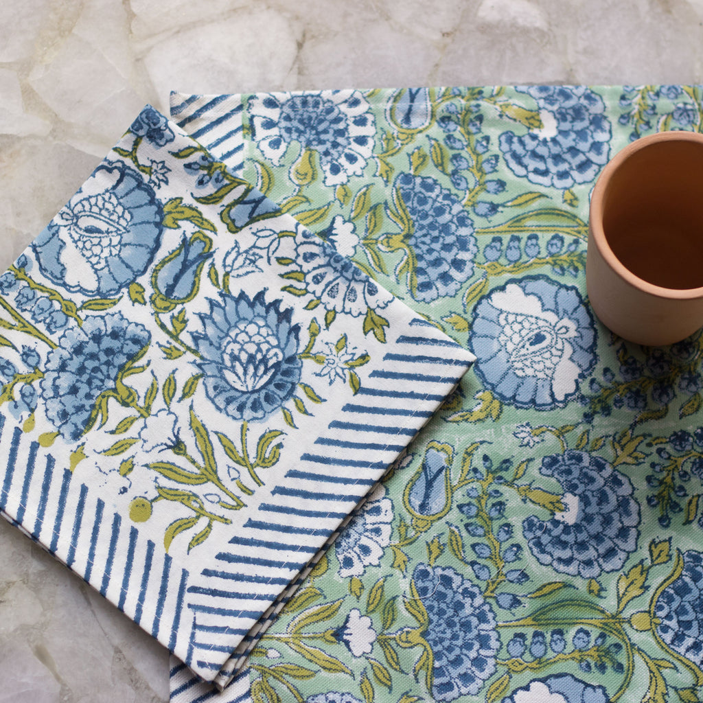 Garden Print Table Mat & Napkin Set