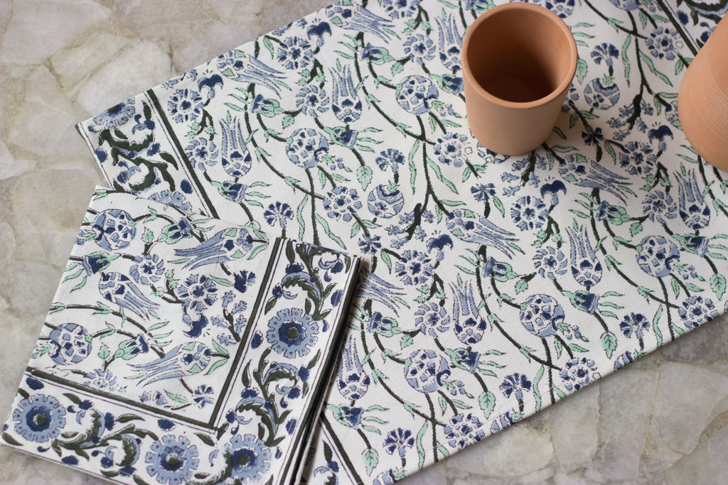 Mughal Print Table Mat & Napkin Set