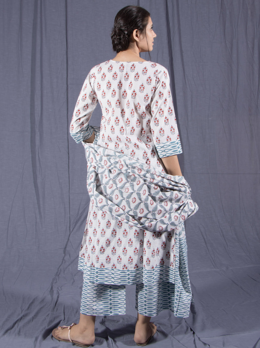 Jasmin Block Print Cotton Suit Set
