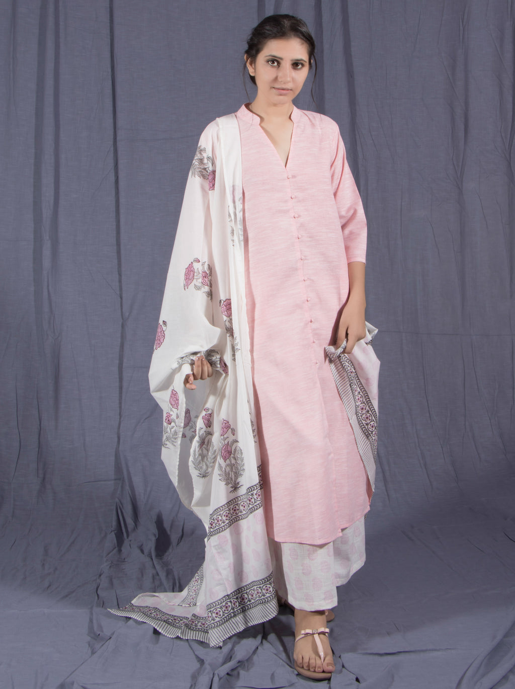 Pink Cotton Suit Set