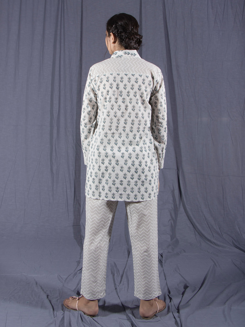 Set of Lime Block Printed Shirt and Pants