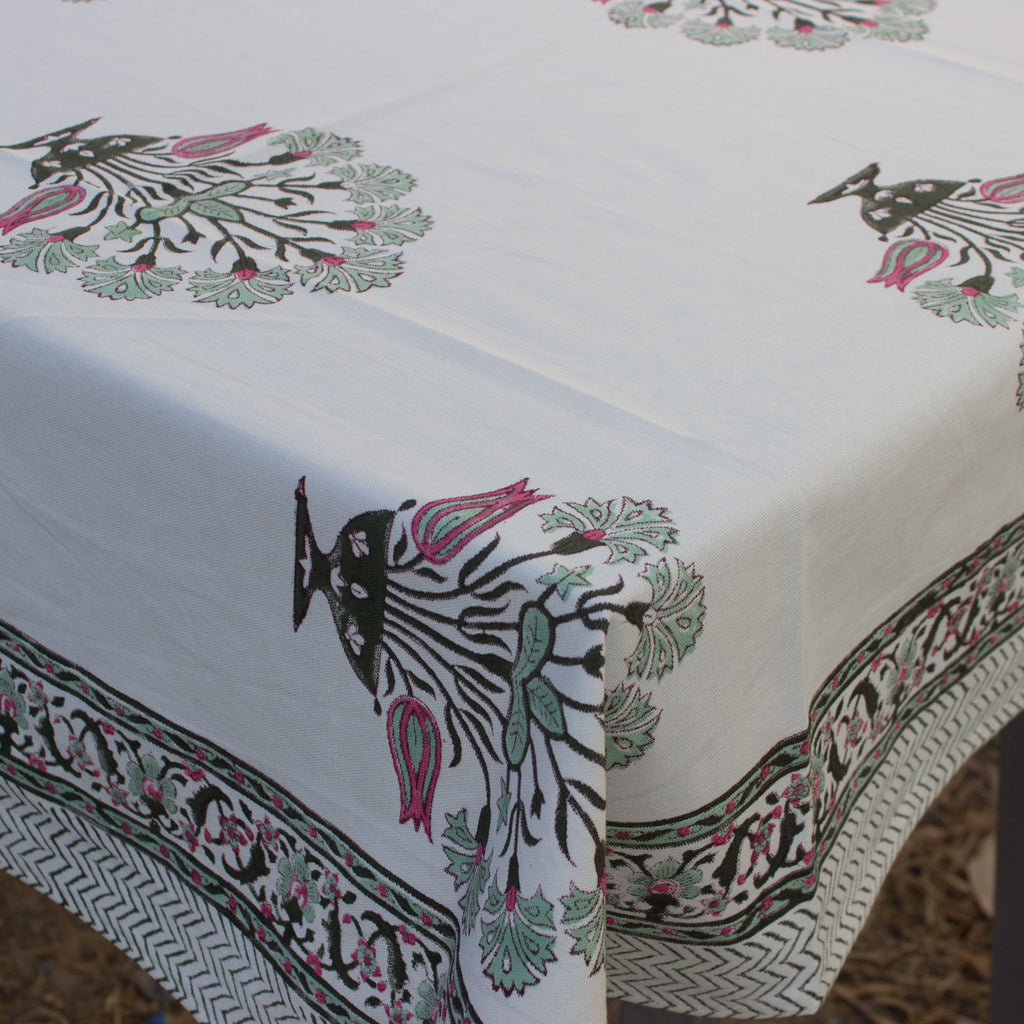Gauhar Ara Buteh Canvas Cotton Table Cloth