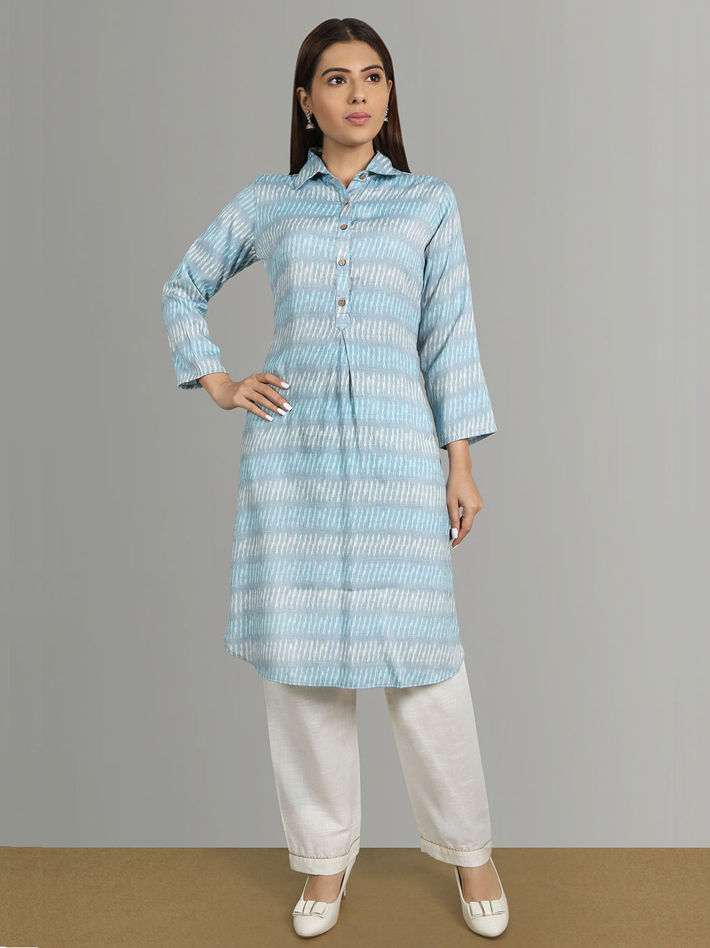 Ikat Kurti With Pants
