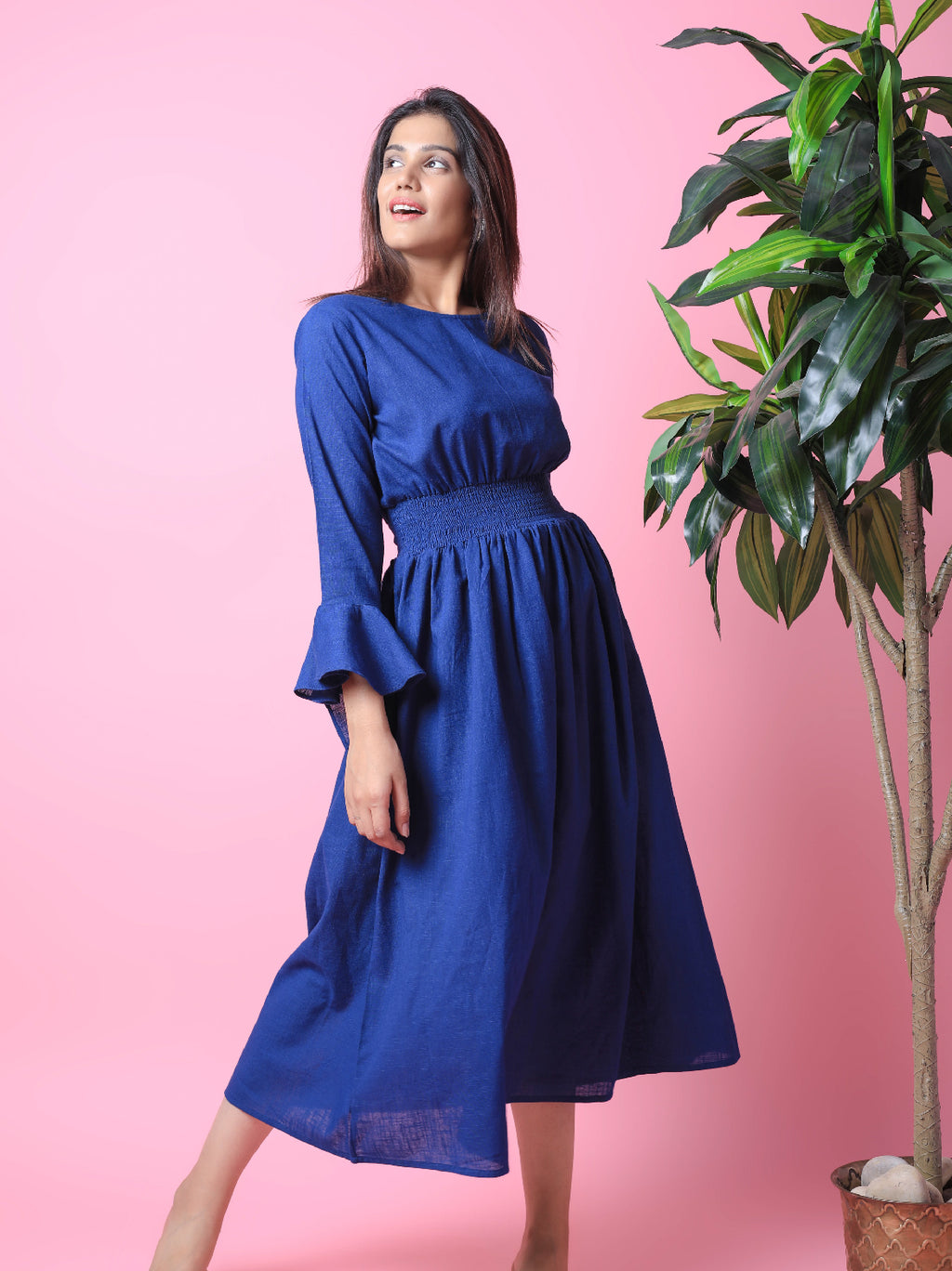 Bell Sleeves Long Maxi Dress