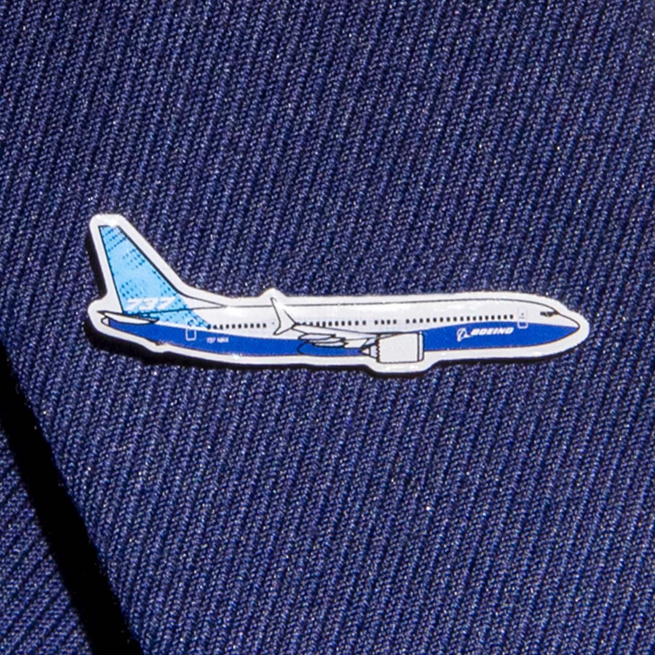 Boeing Illustrated 737 MAX Lapel Pin