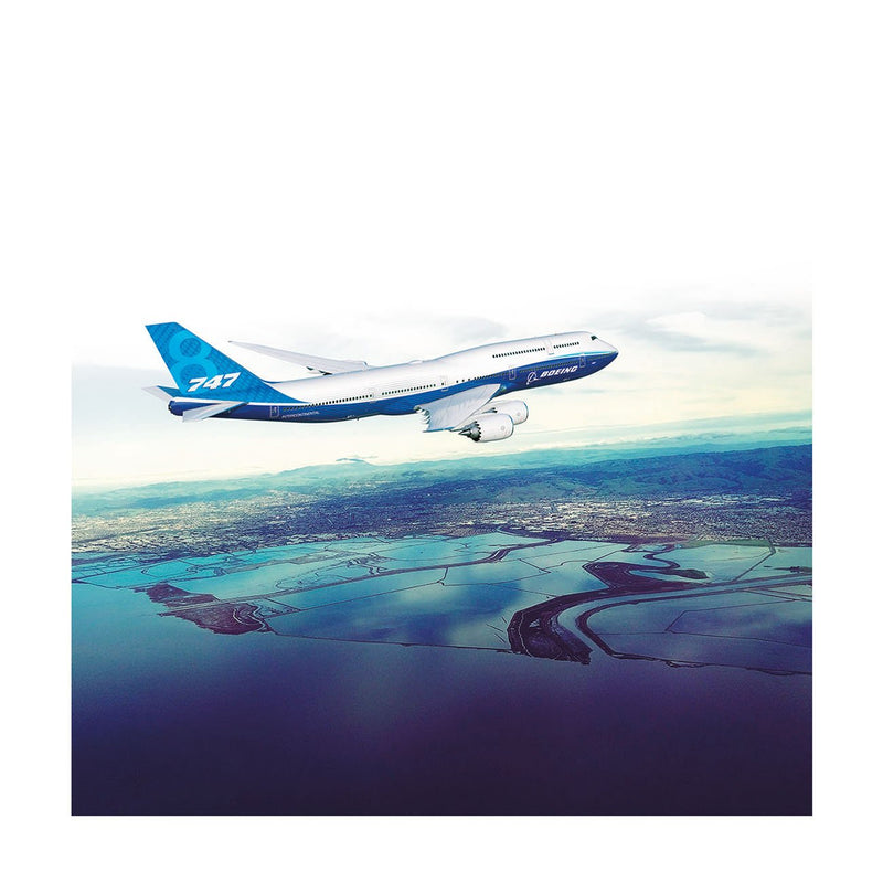 Boeing 747-8 Matted Print - Large