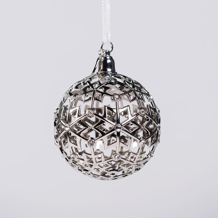 2019 Boeing Jet Snowflake Ball Ornament