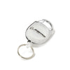 Carabiner Retractable Keychain - White