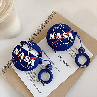 CoolKz 3D Blue NASA Silicone AirPods Case Cover