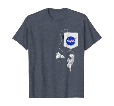 Fuzewear NASA Pocket Astronaut Space Shuttle in Space T-Shirt