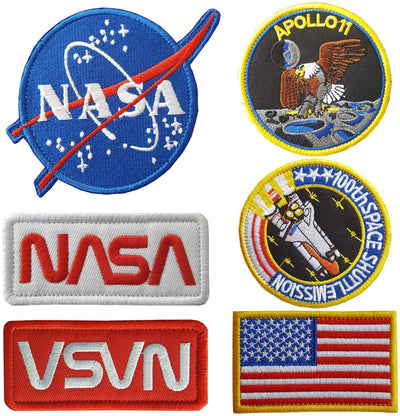 Lightbird NASA Patches (6 pieces)