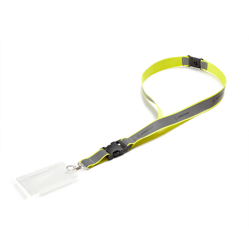 Neon Safety Lanyard - Yellow