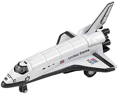 Rhode Island Novelty 5 Inch Diecast Pullback Space Shuttle