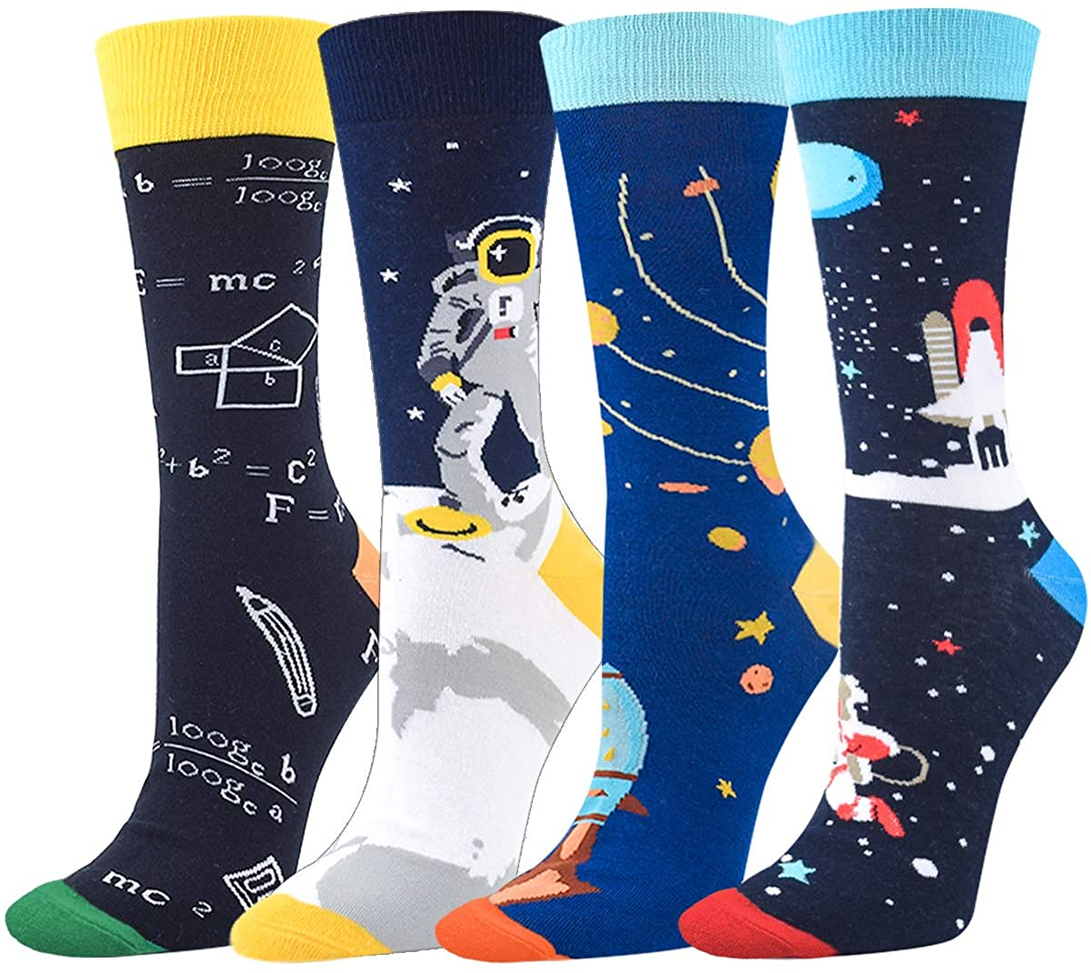 Seorsok Outer Space Novelty Crew Socks