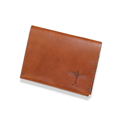 Boeing Totem Leather Folding Card Case