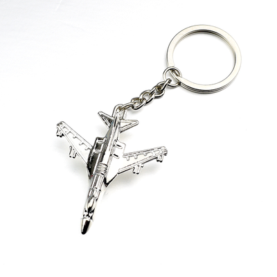 Metal Airplane Keychain