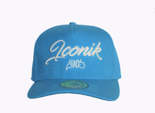 Load image into Gallery viewer, Blue Script Snapback