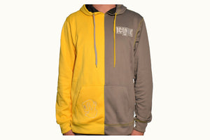 Yellow and Grey Split Hoodie