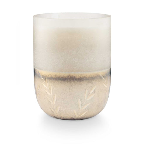 Balsam & Cedar Large Frosted Glass Candle - Letty Blu