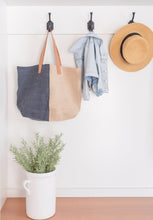 Load image into Gallery viewer, Dual-Toned Jute Tote - Letty Blu