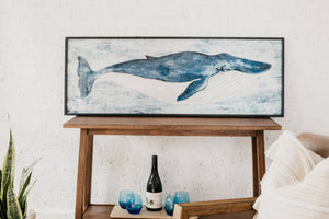 Whale Framed Wall Art - Letty Blu