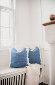 Mary Pillow Cover - Letty Blu